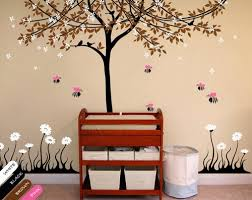 Blossom Tree Wall Decal Nursery Decoration Floral Bee Stickers Kr056 Studioquee On Artfire