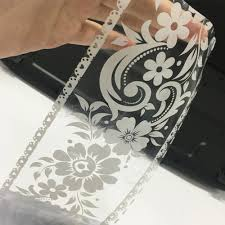 Roll White Lace Transparent Removable Self Adhesive Wallpaper Border Peel And Stick Wall Border Waterproof Window