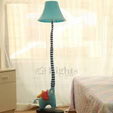 Cute Cartoon Blue Elephant Fabric Kids Floor Lamps