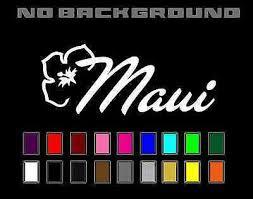 Maui Hawaii Hibiscus Flower Vinyl Decal Sticker Car Phone Window Wall Decor Ebay