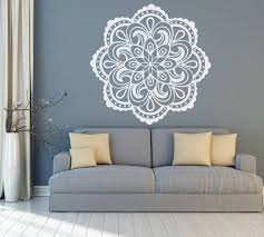 Wall Decal Mandala Mandala Wall Art Boho Mandala Decal Etsy