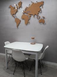 Map Push Pins Map For Wall World Map Wall Map Cork Board Etsy In 2020 Map Wall Decor World Map Wall Modern Wall Decor Art
