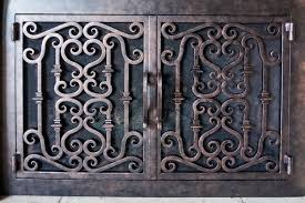 custom made wrought iron fireplace