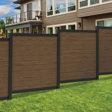 Freedom Ready To Assemble Artisan 6 Ft H X 6 Ft W Brown Aluminum Flat Top Privacy Lowes Com Metal Fence Panels Outdoor Panels Outdoor Living Crafts