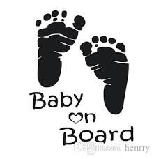 2020 Car Stickers English Words Baby On Board With Baby Footprint Prompt Car Covers Body Dacel From Henrry 34 68 Dhgate Com