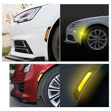 2pcs Orange Car Door Edge Guard Reflective Sticker Tape Decal Safety Warning Ebay