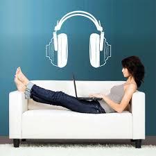 Wall Decal Vinyl Decal Sticker Headphones Music Notes Beats Audio Cord Stickersforlife