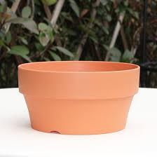 18cm round ceramic clay nursery garden