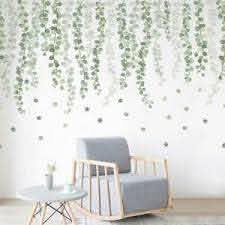 Foliage Green Leaves Wall Stickers Botanical Decal Home Decor Art Mural Diy Gift Ebay