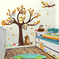 Tree Wall Sticker Animals Wall Decal Kids Bedroom Decoration Removable Sticker For Sale Online