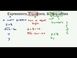 expressions equations inequalities