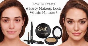 party makeup look within minutes
