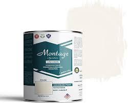 Montage Signature Interior Exterior Eco Friendly Paint Glacier White Low Sheen 1 Gallon Amazon Com