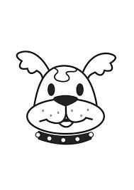 Kleurplaat Kop Hond Kleurplaten Honden Doodle Hond