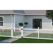 Wambam Fence 4 Ft X 4 Ft Nantucket Vinyl Picket Fence Gate With Stainless Steel Hardware Bl19102 The Home Depot