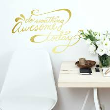 Roommates Decor Do Something Awesome Quote Peel And Stick Wall Decals Brickseek