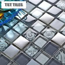 glass mosaics blue silver gold foil