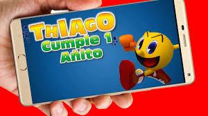 Pacman Video Tarjeta Invitacion Cumpleanos Whatsapp Digital