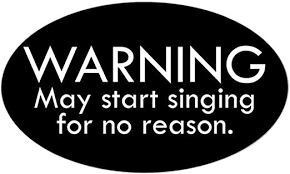 Amazon Com Cafepress Warning May Start Singing For No Reason Sticker Oval Bumper Sticker Euro Oval Car Decal Automotive