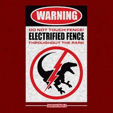 Jurassic World Electric Defense Dinosaur T Shirt