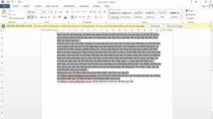Hướng dẫn cách làm mất màu nền văn bản copy từ Internet trong Word ...
