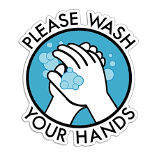 Please Wash Your Hands Decal Sticker