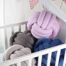 Best Offer F77704 Baby Bed Crib Pillows Bedclothes Cuddle Pillow Weaving Round Shape Knot Pillow For Children Room Decoration Yyj002 Cicig Co