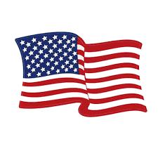 Left Hand Waving American Flag Decal Flagandbanner Com