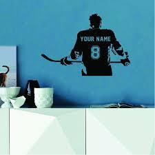 Hockey Player Decal With Customized Name Sportesi