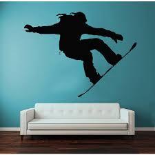Shop Sport Girl Extreme Snowboarding Vinyl Sticker Home Mural Art Interior Design Nursery Decor Sticker Decal Size 44x52 Color Black Overstock 14650549