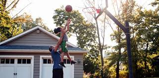 Make Your Backyard Measure Up To A Basketball Gym Out Back Casual Living Fence