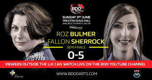 """BDO Darts on Twitter: """"Fallon Sherrock dazzles in 5-0 thumping of Roz  Bulmer, averages 91.65 to reach final… """""""