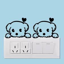 Funny Cute Animals Switch Wall Stickers Instyle Walls Llc