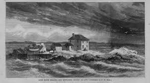 LIME ROCK ISLAND OFF NEWPORT RHODE ISLAND IDA LEWIS HEROINE OF ...
