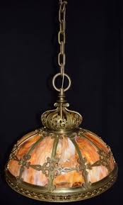 antique chandelier slag glass hanging