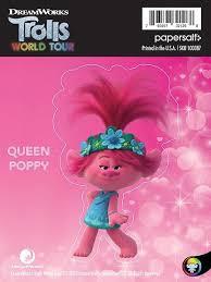Trolls World Tour Queen Poppy Kiss Cut Sticker Stickers Papersalt