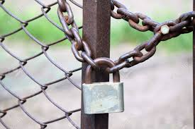Lock On A Chain Link Security Fence Stock Photo Picture And Royalty Free Image Image 19664963