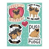 Cute Pug Sticker And Decal Sheets Lookhuman