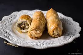 phyllo dough meat rolls the