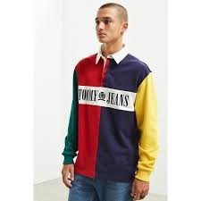 90s colorblocked rugby shirt
