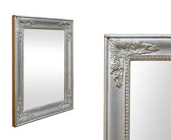 silver wood restoration style mirror