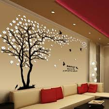 Big Size Lovers Tree Acrylic Wall Stickers For Living Room Tv Sofa Wall 3d Art Decoration Accessories Home Decor Wall Sticker Acrylic Decorationwall Sticker Living Room Aliexpress