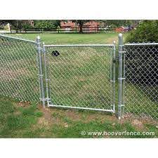 Hoover Fence Residential Chain Link Fence Single Swing Gates 1 3 8 Galvanized Frame Hoover Fence Co