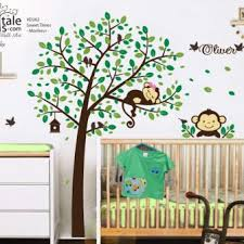 Corner Tree Wall Decals For Nursery Australia And Bird Baby Room Design Branch Owl White Monkey Vamosrayos