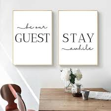 stay awhile simple quotes canvas poster mini st art print