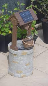 74cm solar powered wishing well water