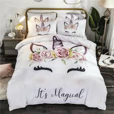 unicorn bedding set twin queen size