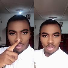 gele and makeup on men slay or nay