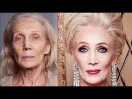 old lady makeup transformation
