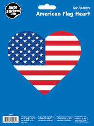 American Flag Heart Automotive Decal At Menards